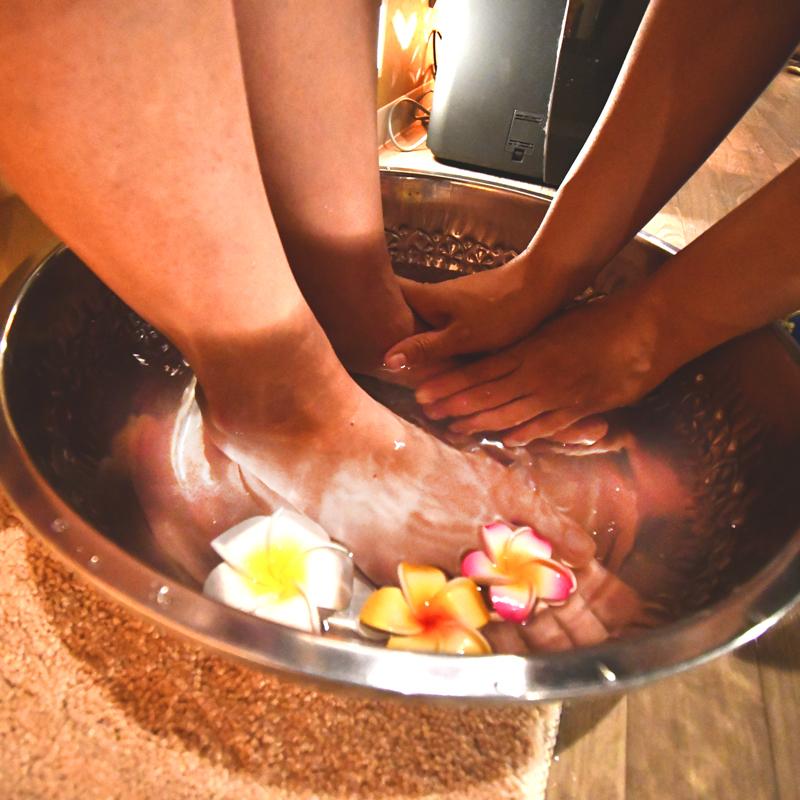 足を洗います